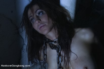 Princess Donna lives out her fantasy of being ;locked in a basement and used as a sex slave for her husband. Creampie, DP, facial!