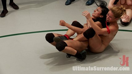 Work it out bitches cat fight on the mat. Four bad anal whores turn the mat into one large cat fight.  Expect an action packed bitch fest with smothering and finger make love galore!