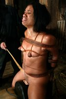 Syndee Capri's self-bondage and excrutiating torture.