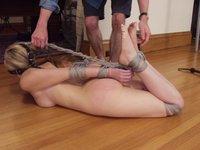 Chanta Rose in suspension action.