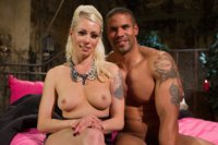 Gorgeous blonde dominatrix tortures and teases hot muscle slave while he's locked away in chastity!