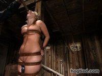 See Harmony cum back to excercise her bondage endurance