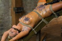 Hot newbie Cameron is so horny she can't help but to fuck herself shamelessly for the camera. Spread oiled bondage, fisting, sybian ride - watch this!