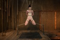 Jade & Nerine both endure hard challenges: the sybian, partial breast suspension, caning, predicament bondage, and amazing intense orgasms!