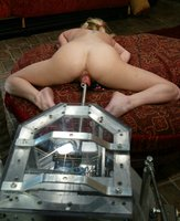 Insatiable blonde enjoys fast and deep machine pounding.