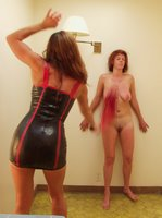 Kym finds newbie Carrie can take anything, very erotic session.