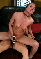 Jamie gets off from being punished, controlled and stap-on fucked