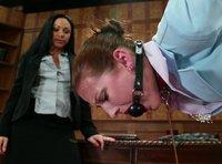 Her training includes bondage, punishment, electrostim play &more