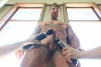 Logan Vaughn has his cock relentlessly edged and his ass fucked with a dildo