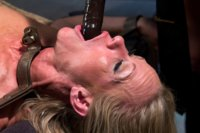 Rookie cop, Elle Alexander punishes and DP's sexy MILF prostitute, Simone Sonay!