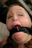 Voluptuous Christina bound, flogged, and forced to cum!