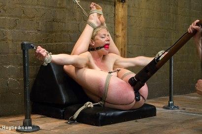 Extreme female contortion bondage