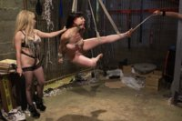 2 smoking hot lesbians punish and strap-on double penetrate a new initiate into their kinky girl gang!
