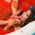 Foot Fetish, Lesbian Footing, Jello and Sploshing