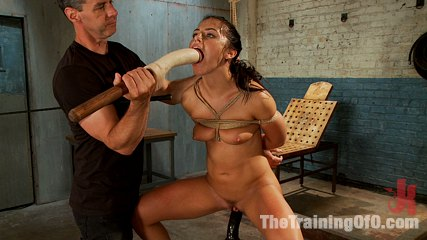 The training of a model or a slave day one. When Porn Star model Adriana Chechik enters basic slave training, she is having to work allot harder for that penish than she thought she would.