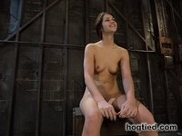 Faith, the cute girl next door is back for some bondage action.