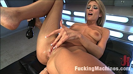 Holy shit new girl  stop setting the bar so high. Tanned, toned, blonde babe gets her pussy fuck open & creamy by custom speed machines that make her cumshot multiple times & don't stop have intercourse her slit