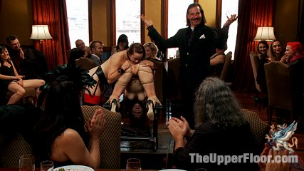 Elegant penish suckers petition the house. When anal slut Penny Pax comes to the Upper Floor, she is Presented to Serve the Brunch Guests