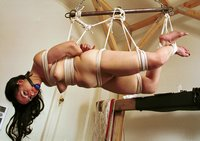 Sexy Averice in 'Amazing Rope Suspensions'