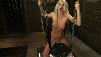 Southern blonde babe straddles machines  cums like a bucking filly. Leg shaking, mind blanking orgasms from a hot southern babe who cums in a Sybian saddle & gets nailed by machines faster than she has ever been make love
