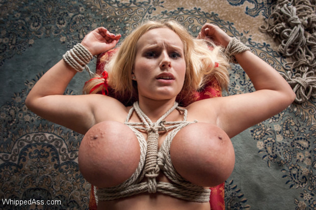 Sandra Romain returns to Whipped Ass to unleash and fuck a beautiful big titted blonde  slut!