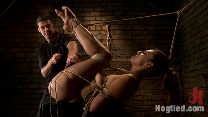 Horny little latin have sex overpowered by orgasms and bondage. Excited latin babe gagged and tied tight, zippered, made to orgasm over and over, cunt tied wide open for heavy dildo fuck