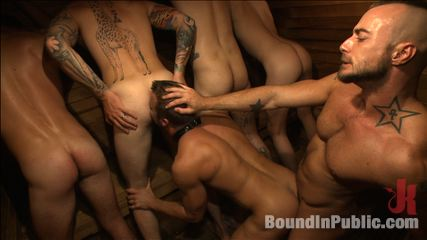 Bathhouse whore torture and gang banged by a excited crowd. Connor Patricks gets gang fuck and molested by a group of horny guys at Club Eros Sex Club