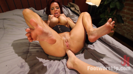 Mommy dearest. Collage co-ed has sex and foot worship with her adoptive mother when home from collage.