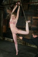 Haley Scott likes to get tied up at home