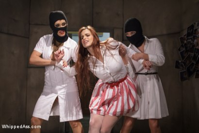 Nurse gets taken by 3 sexy lesbians then punished and filled up with multiple strap-on cocks!