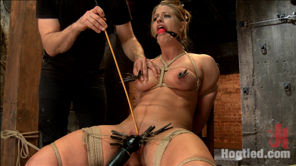 Request fulfilled great tit milf bondage predicaments. Considerable Tit MILF Holly Heart in tight crotchrope predicament bondage, tied toa chair with vagina clipped open, clit vibed, have intercourse with giant black cock