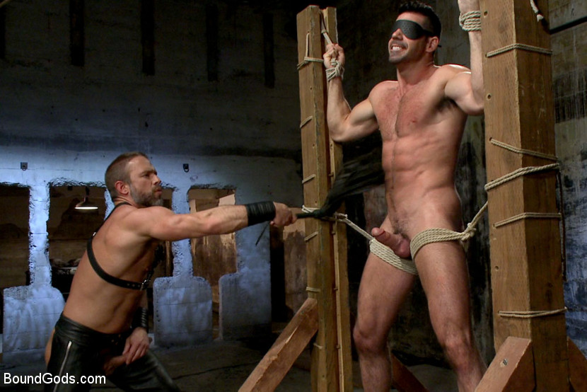 Slave dude bound gagged blindfolded by mistress lola for some fun 5