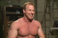 Body builder Derek Pain pushed to the limit and challenged to blow his load