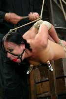 Julie Night loves pain and laughs at category 4 suspension