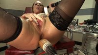 Hot, lean, fresh face girl squirts herself into a soaking wet cum drunk mess in the medical office. Suction, probes & BIG dicks all make her squirt!