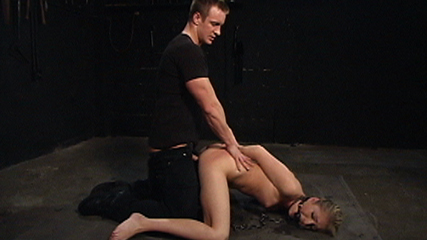 Begging lessons. Gorgeous, little Jaelyn Fox is in for one hot scene as a bondage sex slave!