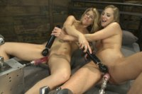 Slippery girl sex so hot & full of chemistry - it's nearly impossible to finish the day! We have two blond babes & a whole lot of lube and machines!