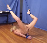 Violet gets tied up tight.