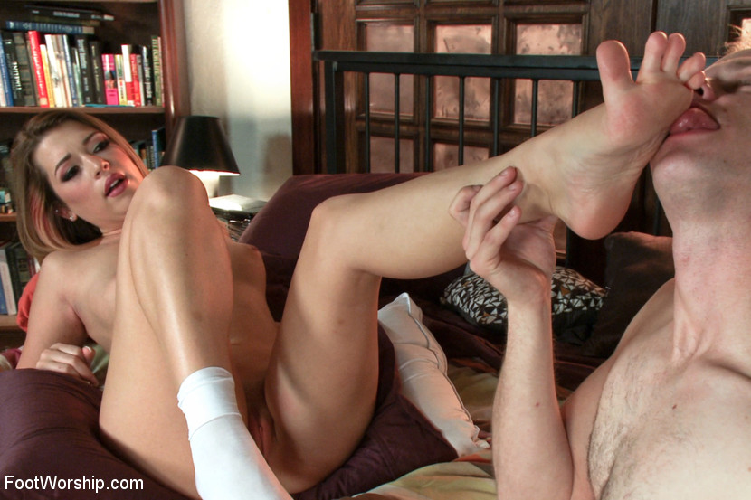 College Girl in Wet Socks foot fetish video with Cliff Adams and Jenna Ashley