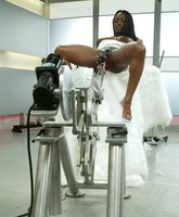 Jada Fire squirts all over fuckingmachines and her 32DD sucked.