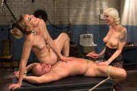 Femdom-Revenge-Lorelei-Lee-and-Mona-Wales-Punish-Misbehaved-Man
