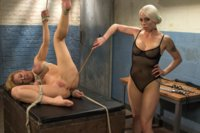Darling has a genuinely intense lesbian BDSM experience including bondage, anal fucking and fisting!