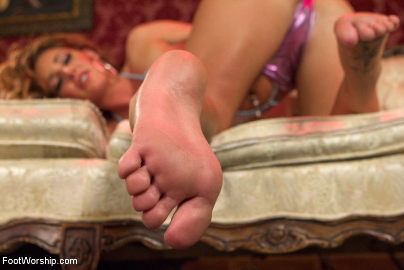 Feet lesbian beautiful bare