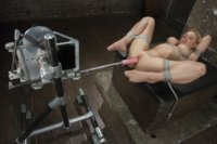 DARLING DOES MACHINES FOR THE FIRST TIME!! She is tied up tight and fucked until she squirts and babbles nonsense! We LOVE Darling!