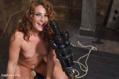 Savannah Fox's insatiable pussy on the super vibrator, squirting cunt tit whipping, dildo throat fucking, suspended chair bondage, merciless orgasms