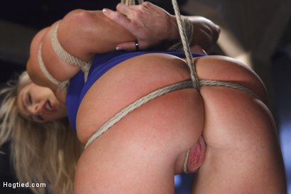 Angel Allwood earns mind blowing orgasms when she is suspended, penetrated, vibrated, berated, flogged and manhandled. Brutal inverted suspension