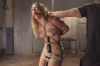 Fresh young model gets her gigantic ass tied up and her clit tormented