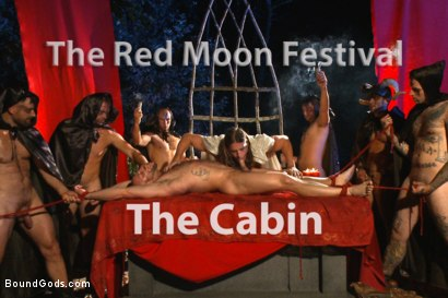 Tatum gets beaten and fucked at the Red Moon Festival on Halloween.