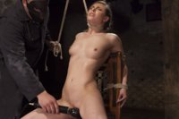 Casey Calvert tied into submission and made to come over and over in strict bondage positions. Anal hook, ball gagged, strappado