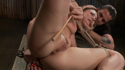 Blonde hottie takes severe torture in brutal bondage. Dahlia suffers through 2 hours of non-stop action in the edited version of our July live show.